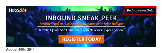 HubSpot Exclusive Email
