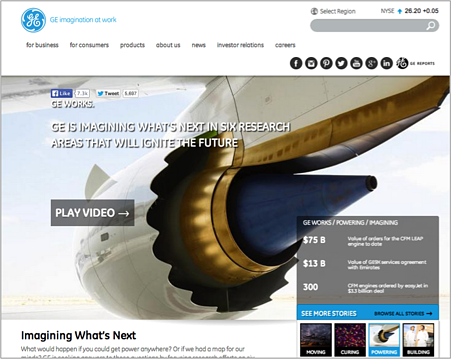 GE Website Design