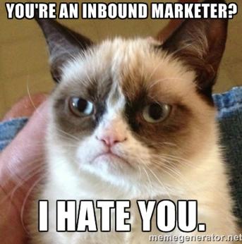 grumpy cat, inbound marketing, b2b marketing, blog