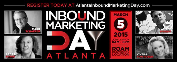 Join Marsden & Associates for Inbound Marketing Day Atlanta - March 5th, 2015