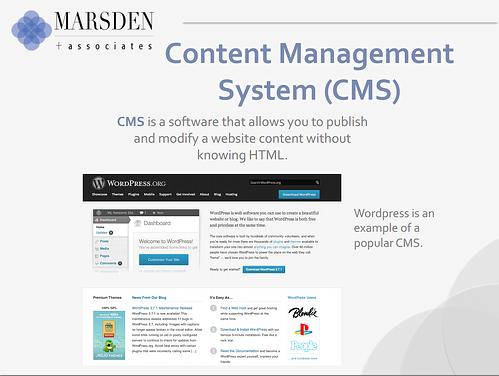CMS, SEO, inbound marketing