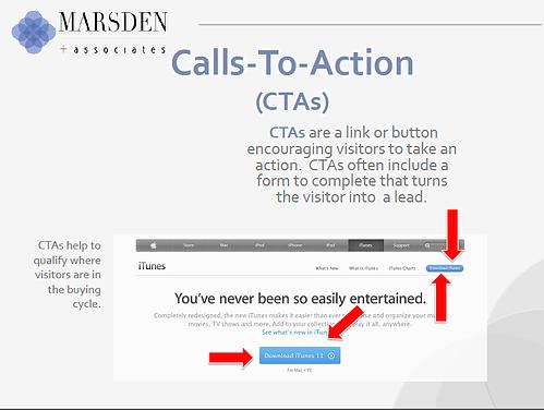 CTA, inbound marketing