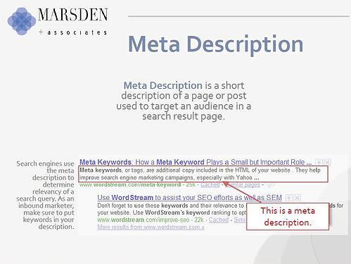Meta description, inbound marketing