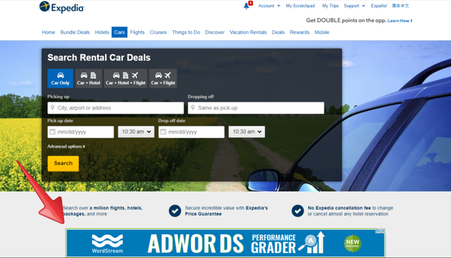 Retargeting PPC campaign for SaaS company example