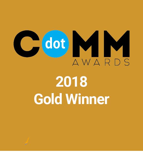 dotcomm award winning agency gold
