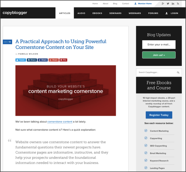 B2B Blog Design