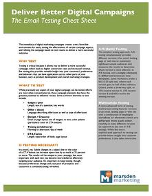Email Campaigns Testing Cheat Sheet