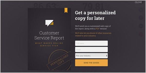 Fullscreen Form Web Design Trend
