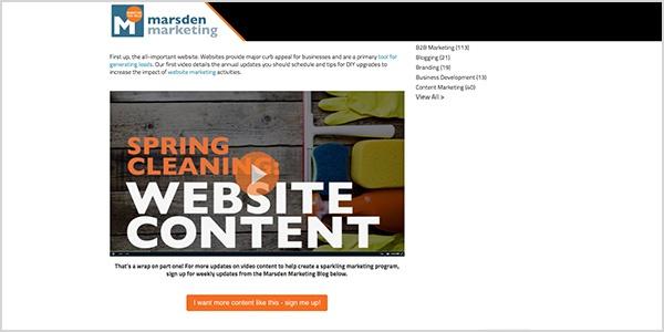 Web Design Trend 4: Inbound Video