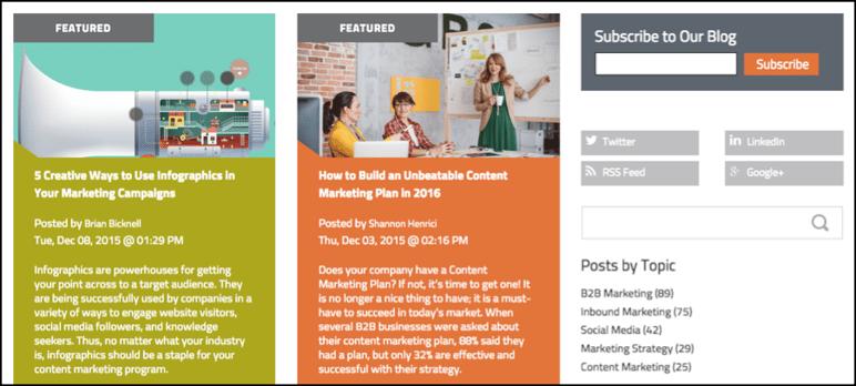 B2B Blog Subscription
