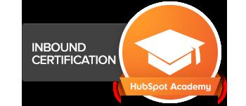 HubSpot Inbound certification for marketing agencies badge