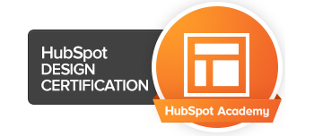 Hubspot Design certification badge for marketing agencies