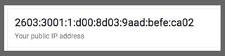 Example of IPv6
