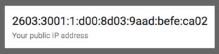 My public IPv6 address