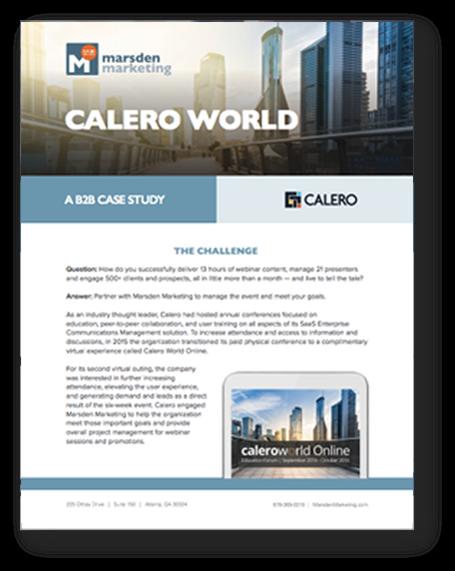 A B2B Marketing Case Study Calero World