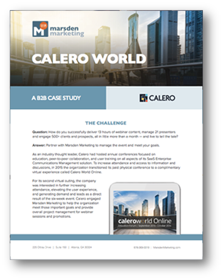A B2B Marketing Case Study Calero World