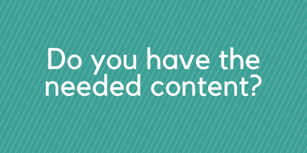 Do you have the needed content for ABM?