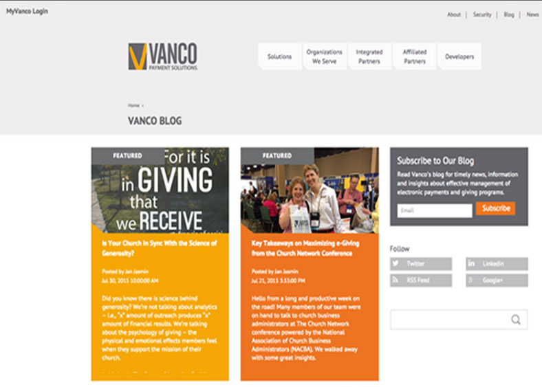 Vanco - Integrated Marketing Pays Off